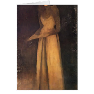 James Whistler- Harmony in Brown The Felt Hat Greeting Card