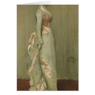 James Whistler- Harmony in Pink Grey Lady Meux Card