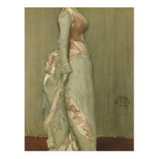 James Whistler- Harmony in Pink Grey Lady Meux Postcards