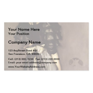 James Whistler- Mother of Pearl and Silver Business Card