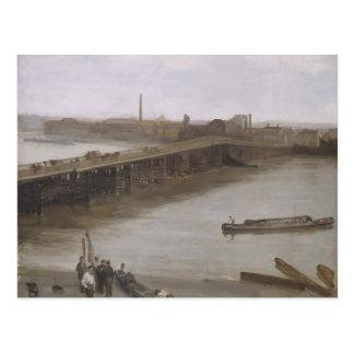 James Whistler- Old Battersea Bridge Postcard