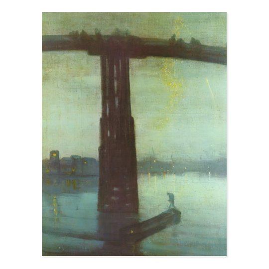 James Whistler- Old Battersea Bridge Postcard