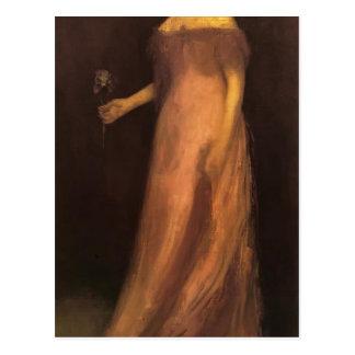 James Whistler-Portrait of Miss Kinsella Post Card