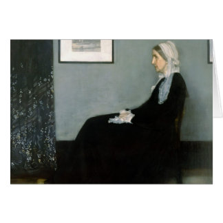 James Whistler-Portrait of the Artist s Mother Greeting Cards