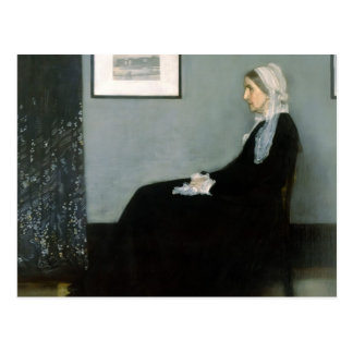 James Whistler-Portrait of the Artist s Mother Post Card