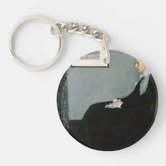 James Whistler-Portrait of the Artist's Mother Keychains