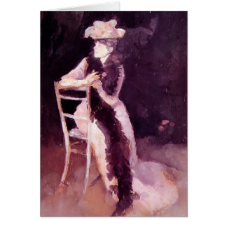 James Whistler Rose Silver Portrait of Mrs Whibley Greeting Cards