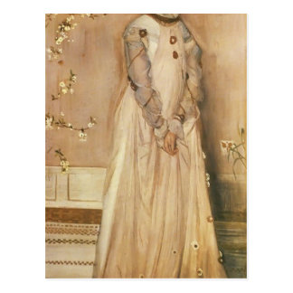 James Whistler- Symphony in Flesh Colour and Pink Postcard