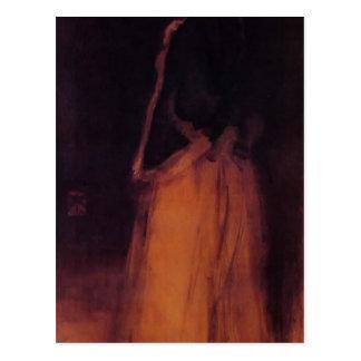 James Whistler- The Fur Jacket Postcards