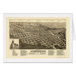 Jamestown, ND Panoramic Map - 1883 Card