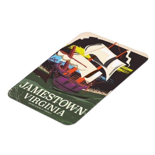 Jamestown, Virginia, vintage travel poster Rectangular Photo Magnet