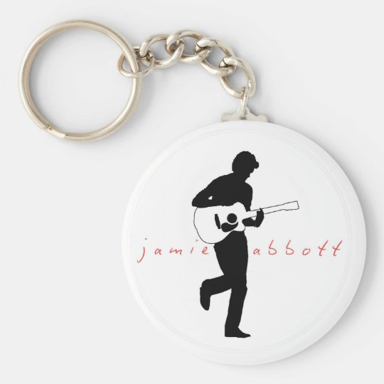 Jamie Abbott Classic Key Ring Basic Round Button Key Ring
