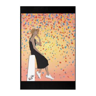 Jamie Kan - Sunset Confetti Acrylic Print