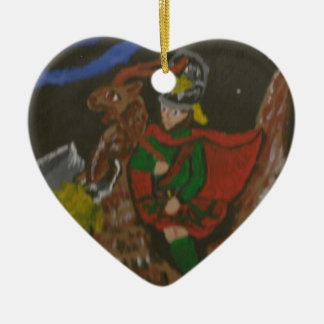 Jamie Zon Mandune riding his slagmare jpg Ornaments