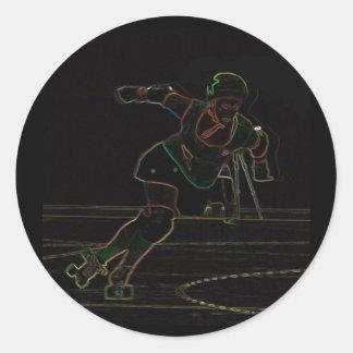 jammer neon round sticker