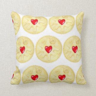 Jammie Dodger Biscuit Pattern Throw Cushion Throw Pillows