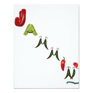 Jammin' Chili Peppers 11 Cm X 14 Cm Invitation Card