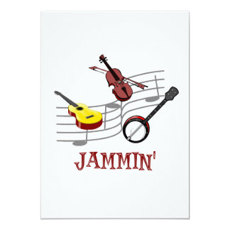 Jammin' Country Folk Bluegrass 13 Cm X 18 Cm Invitation Card