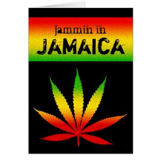 Jammin in Jamaica Reggae Rasta Greeting Card