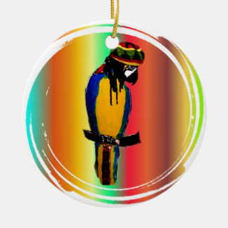 JAMMIN PARROT CHRISTMAS ORNAMENT