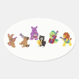 jamming animals stickers