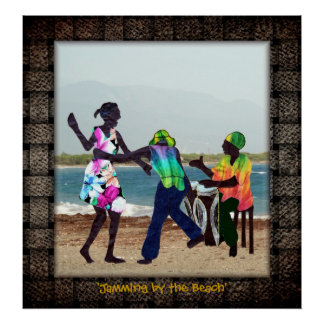 'Jamming by the Beach' Poster
