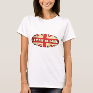 Jammy Bugger on Union Jack Flag T-Shirt