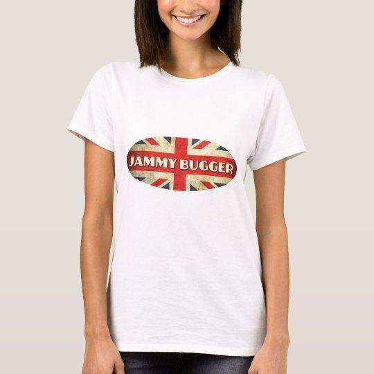 Jammy Bugger on Union Jack Flag T-Shirt