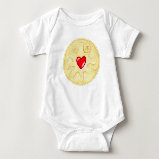 Jammy Dodger Biscuit Illustration Kids Clothing Baby Bodysuit