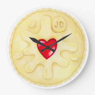 Jammy Dodger Biscuit Illustration Wall Clock