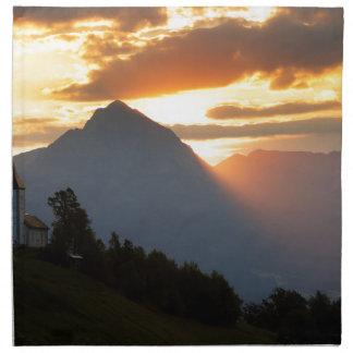 Jamnik church Sunrise Printed Napkins