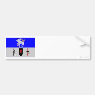Jämtlands län flag bumper sticker