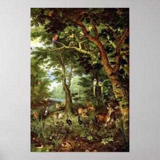 Jan Bruegel the Elder - Paradise Poster