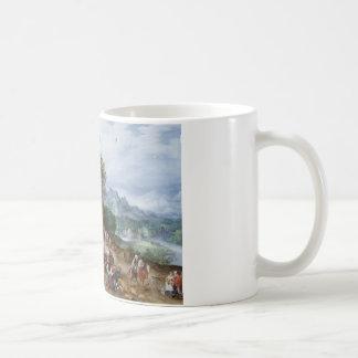 Jan Brueghel the Elder - Flemish Fair Basic White Mug