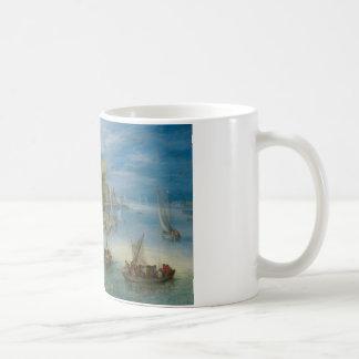 Jan Brueghel the Elder - River Landscape Basic White Mug