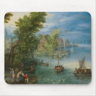 Jan Brueghel the Elder - River Landscape Mouse Pad