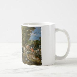 Jan Brueghel the Elder - The Entry of the Animals Basic White Mug