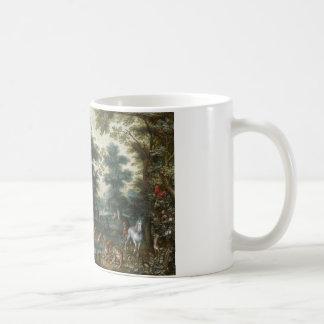Jan Brueghel the Younger - Paradise Landscape Basic White Mug