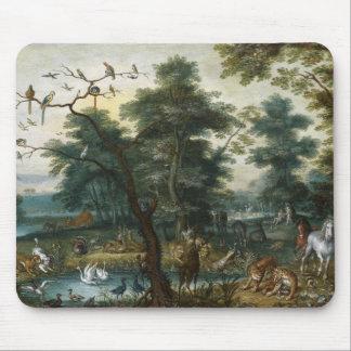 Jan Brueghel the Younger - Paradise Landscape Mouse Pad