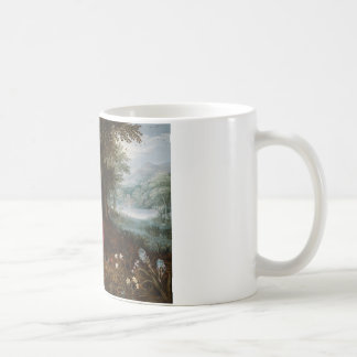 Jan Brueghel the Younger - The Rest on The Flight Basic White Mug