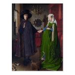 Jan Eyck- The Arnolfini Wedding Postcard