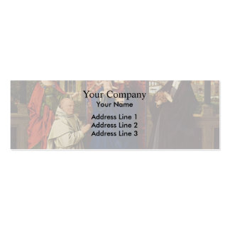 Jan Eyck- Virgin and Child with Saints and Donor Business Card Template