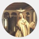 Jan Eyck- Virgin Annunciate Round Sticker