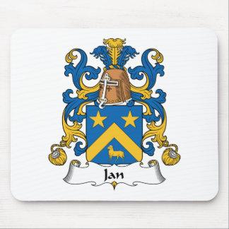 Jan Family Crest Mouse Mats