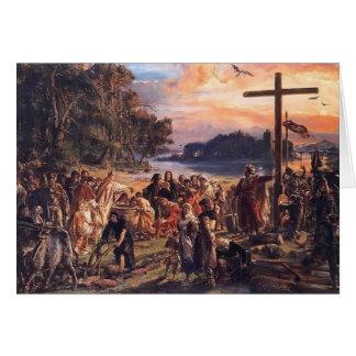 Jan Matejko- Christianization of Poland A D  965 Greeting Cards