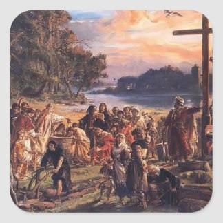Jan Matejko- Christianization of Poland A D  965 Stickers