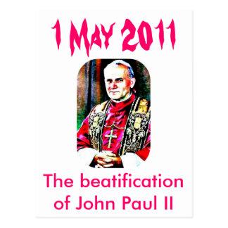 Jan Paweł II  274x409-1, The beatification of J... Postcard