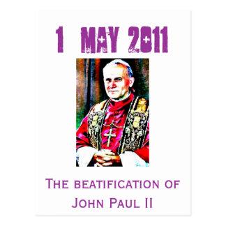 Jan Paweł II  274x409, The beatification of Joh... Postcard
