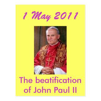 Jan Paweł II 274x409, The beatification of John... Postcard