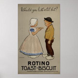 Jan Rinke - Rotino toast-biscuit Poster